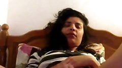 Samira Ayari from Tunisia - alone In bed