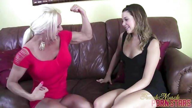Preview 1 of Female Bodybuilder Pornstar Ashlee Chambers Toy Masturbation