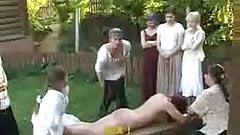 Punished girl - birching