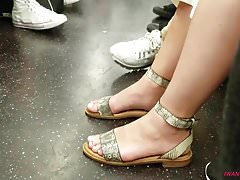 Candid feet on the train pt2