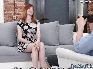 Casting redhead pounded from behind