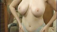 Busty amateur Kathryn playing her tits and pussy