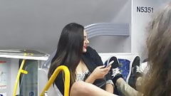 Australian teen upskirt on city rail