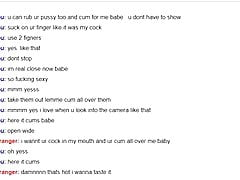 Webcam Chronicles - Busty dark hair teen plays for my cum