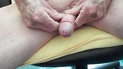 Grandpa's uncut cock