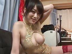 Subtitled POV Japanese lewd woman striptease Akari Hoshino