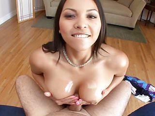 Busty Asian Adrianna Luna POV'd