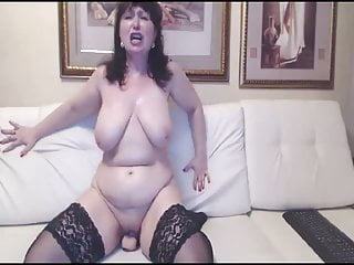 Download video bokep Hot Russian mature mom in stockings ride on toy Mp4 terbaru