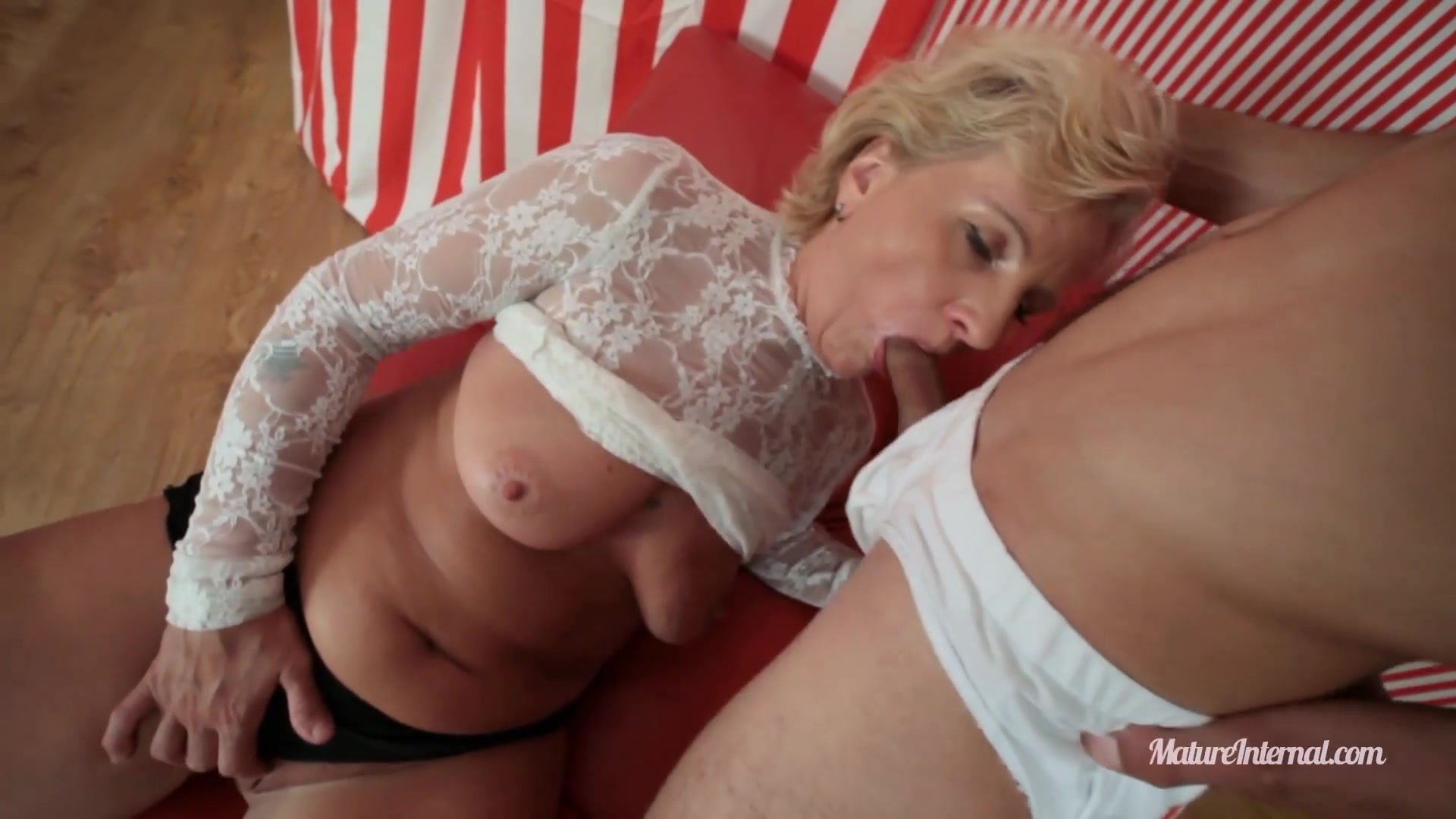 Busty mature finally found young cock for her pussy!