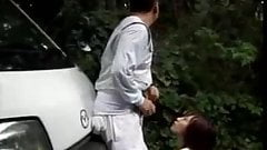 Japan dad and daughter