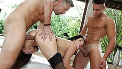 Killer Body Anal Doll with Two guys