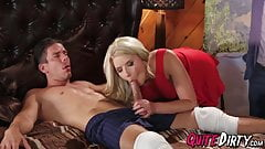 Anikka Albrite rides him and floods his cock with her juices