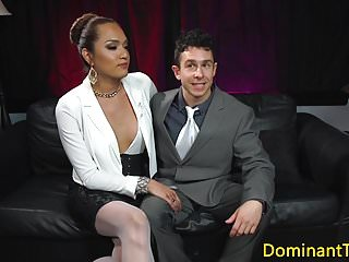 Latina ts dom ass fucks sub after rimming
