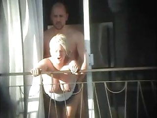 Preview 5 of sex and balcony (Voyeur get caught)