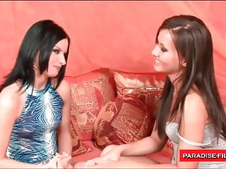 Paradise Films two stunning lesbian babes getting it on