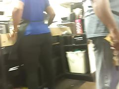 Thick Cashier Ass with Dreads