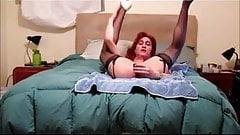 Sissy Vickie Sucks Her Dildo & Fucks Her Ass
