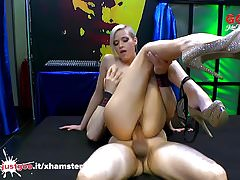 Beautiful Ria Sunn gets her holes filled with cock - GGG