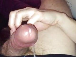 Fingernail handjob and cum fountain