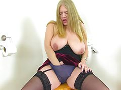 English milf Lily May gets down and dirty in the bathroom