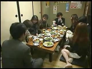 Asian hand job ov gied - Japanese woman gives a hand job during dinner