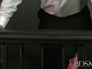Biggestdickinporn xxx - Bdsm xxx ball-gagged submissive girls ass plugged and fucked