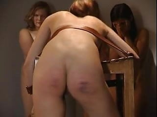 strict caning on bare butt