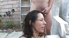 Slut Getting Pissed On By Two Guys