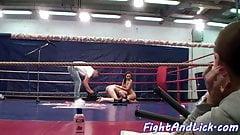 Bigass lesbo wrestles european dyke