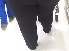 Big black booty bbw in store