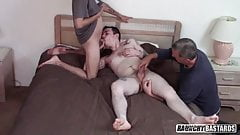 Boy Whore With Tight Hole Gets Tag Teamed