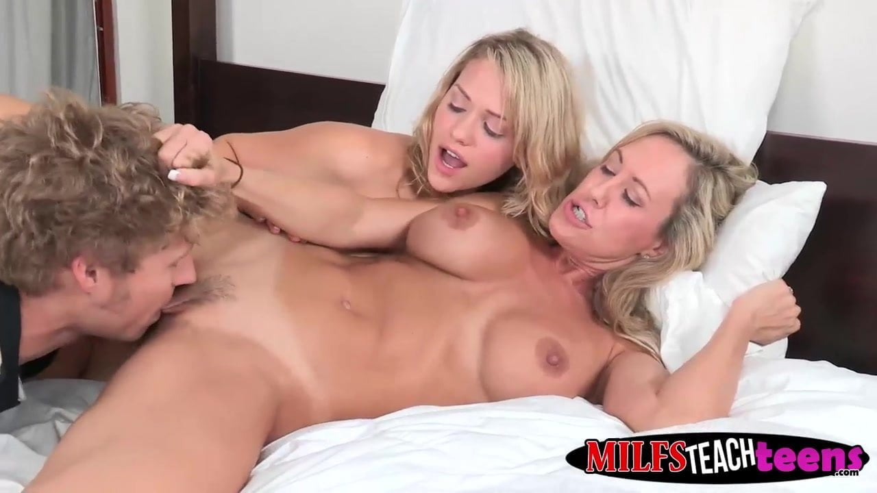 Brandi love and mia malkova hot threeway with horny