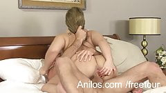 Big ass amateur milf gets a messy facial