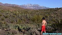 Zack Randall pissing and masturbating among cacti