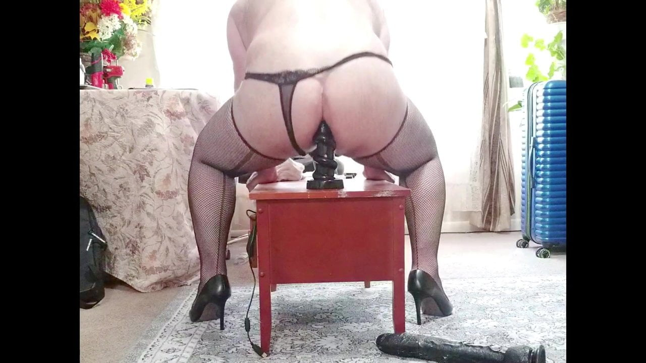 Having fun with my black toys (oops the condom breaks)