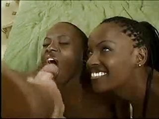 Preview 6 of 3 Black Babes with 1 white Cock