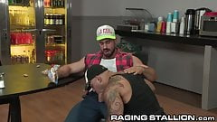 RagingStallion Muscle Hunk Daddy Analized His Friend In Shop