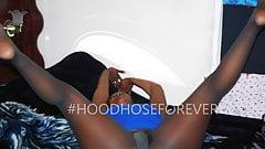Alize Ebony pantyhose shoot