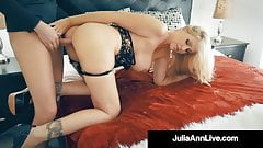 Cock Hungry Cougar Julia Ann Muff Stuffed By Hard Cock Fan!