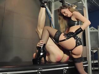Hot blonde Mistress pegging