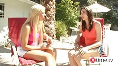 The Paradise of lesbian teens - Gorgeous girls fucks in reso