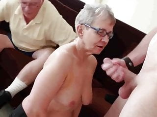 Download video bokep Granny & Husband Invite a Young Stud to Fuck Her Mp4 terbaru