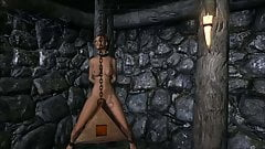 Elisif nude and helpless in Skyrim pt4