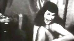 Brunette Beauty Dances in Lingerie (1950s Vintage)