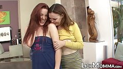 Young redhead pussy pleasuring with her stepmom