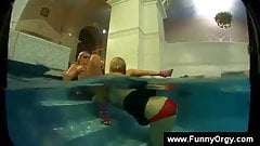 Lesbian muff diving pool party