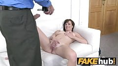 Fake Agent 28yr old amateur nice natural tits in first porn