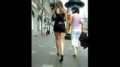 Miniskirt street upskirt