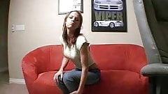 Girl Strips Naked In Her Living Room