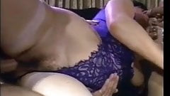 Cuckold granny MILF double teamed in her ass and pussy
